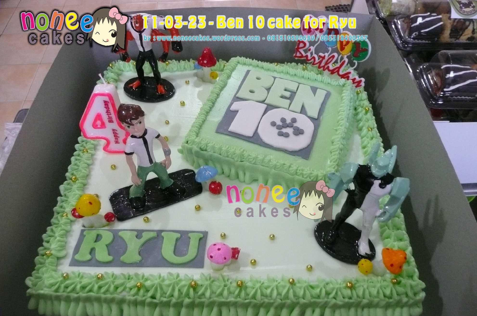 Ben 10 Birthday Cake…buat si Ryu